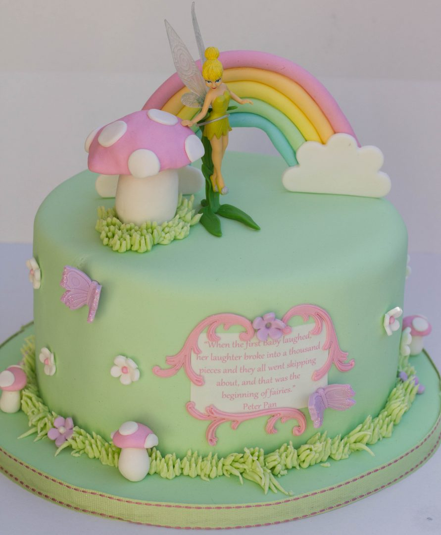 Baby Shower Tinkerbell Themed Vanilla Sponge Cake.