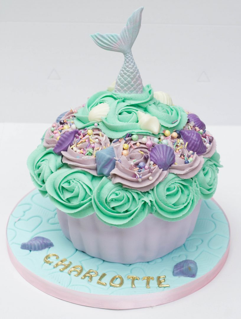 Mermaid Themed Giant Cupcake Cupcake Kitchen